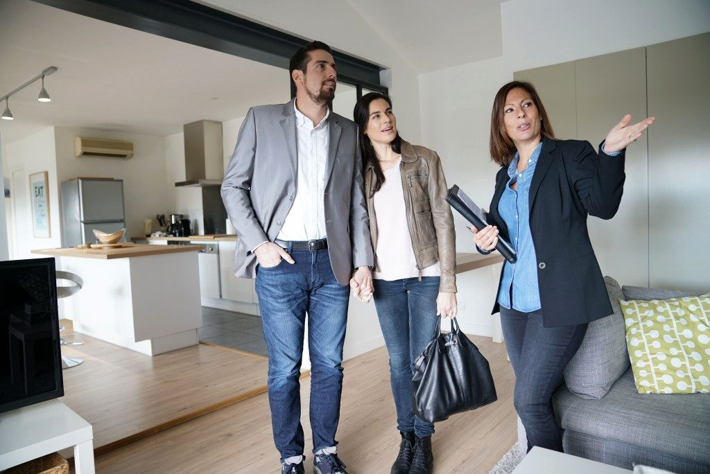 Real estate agent touring around