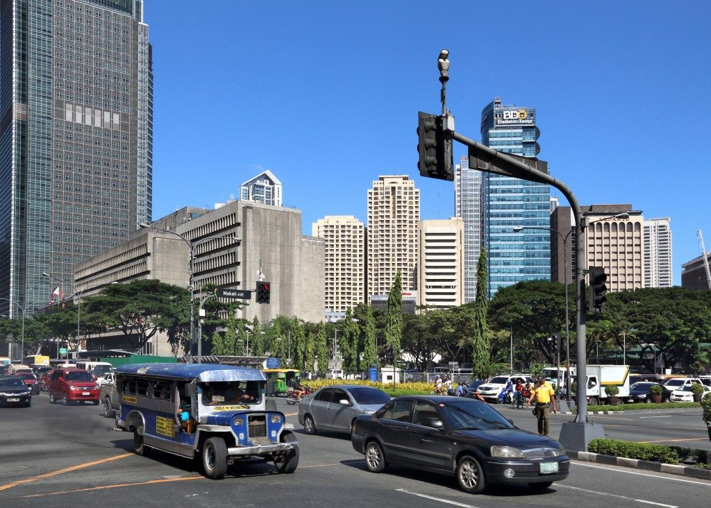 Jeepney at Ayala avenue Makati