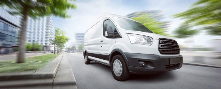 a van on the road