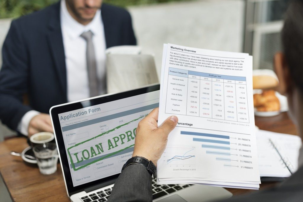 Approved online loan application
