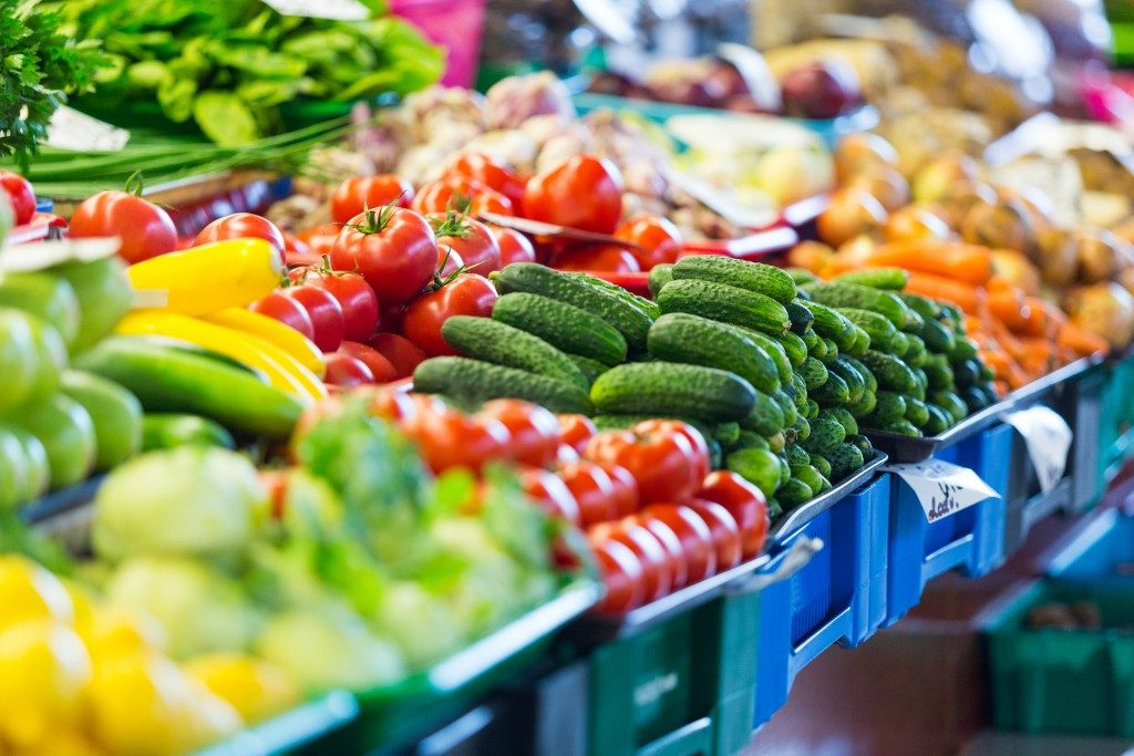 Fresh produce in market