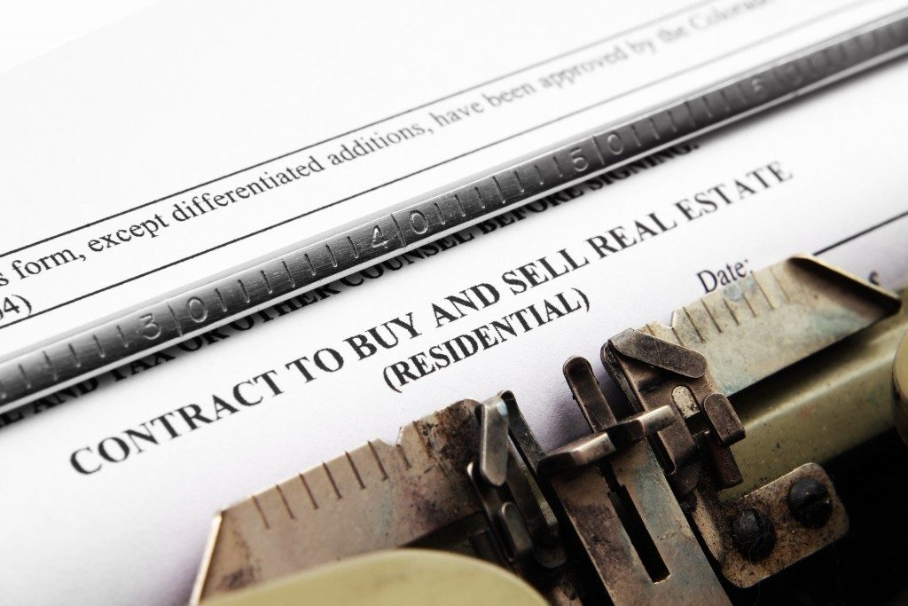 contract of buing and selling of real estate