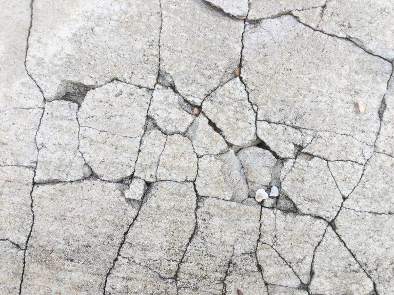 Concrete crack up close