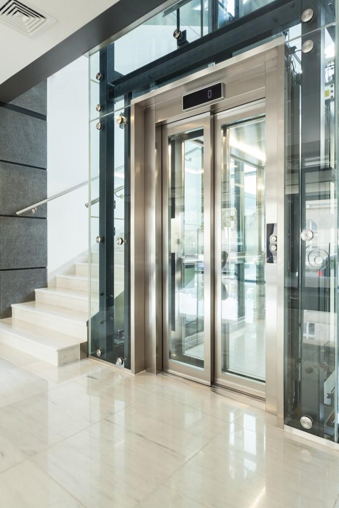 elevator in modern house