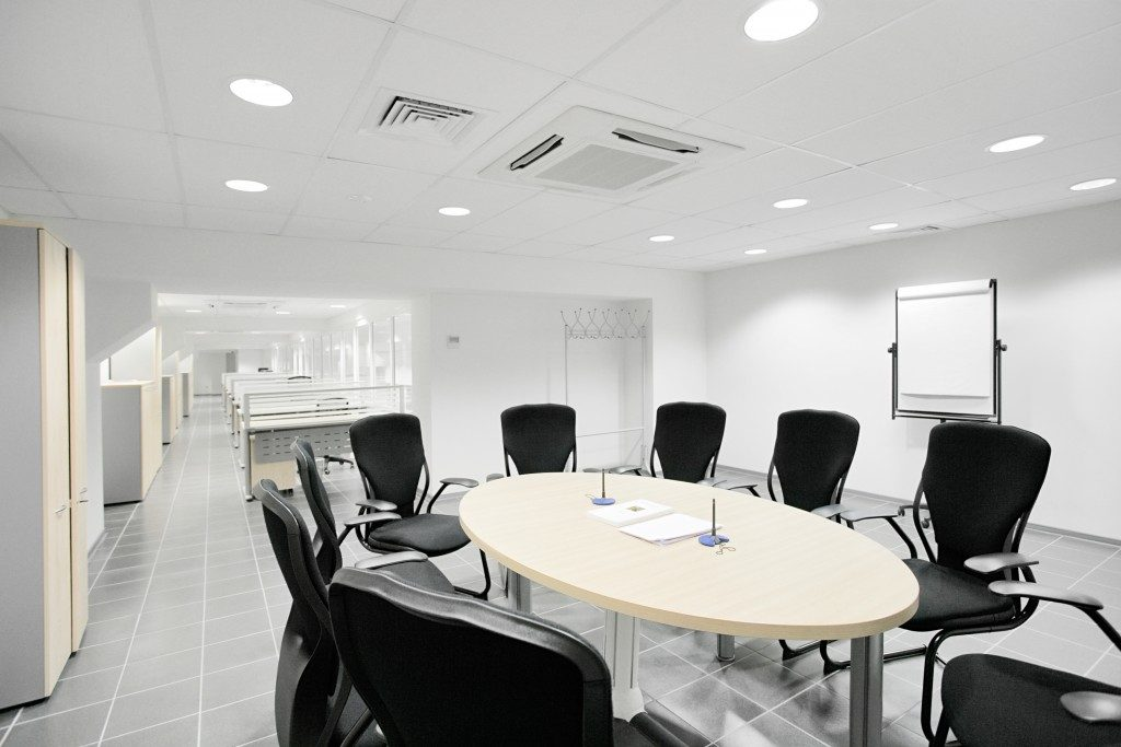 Meeting room with hvac