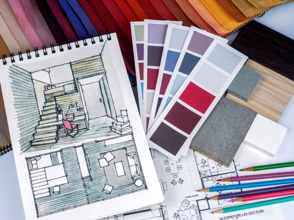 interior design and color swatches