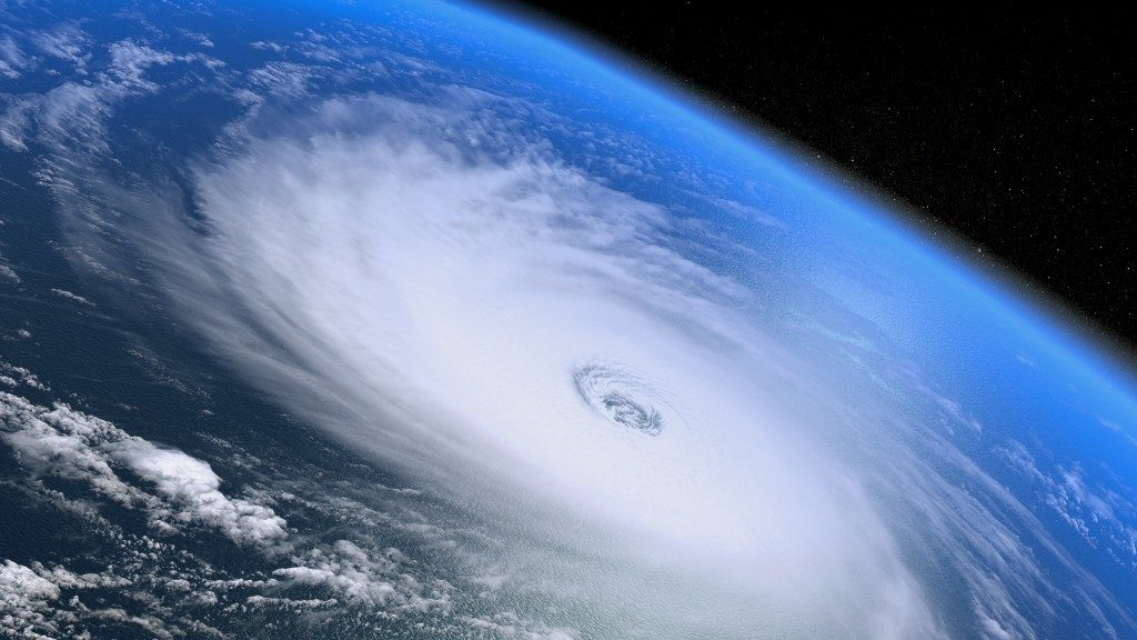 Satellite image of a hurricane