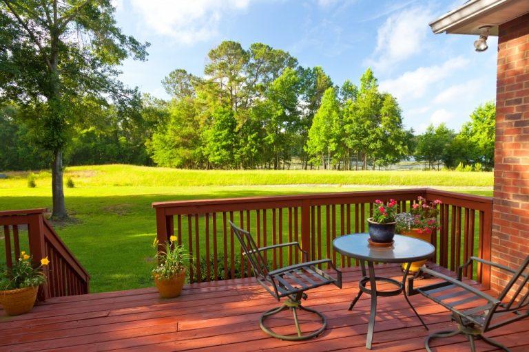 Residential backyard patio