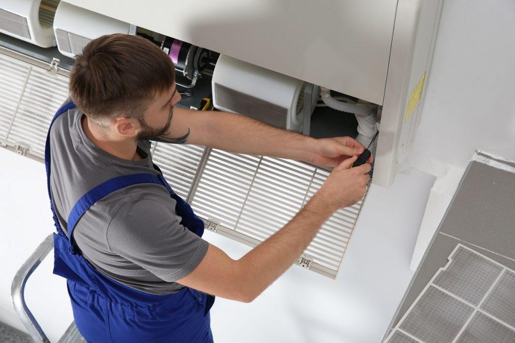 fixing the HVAC unit