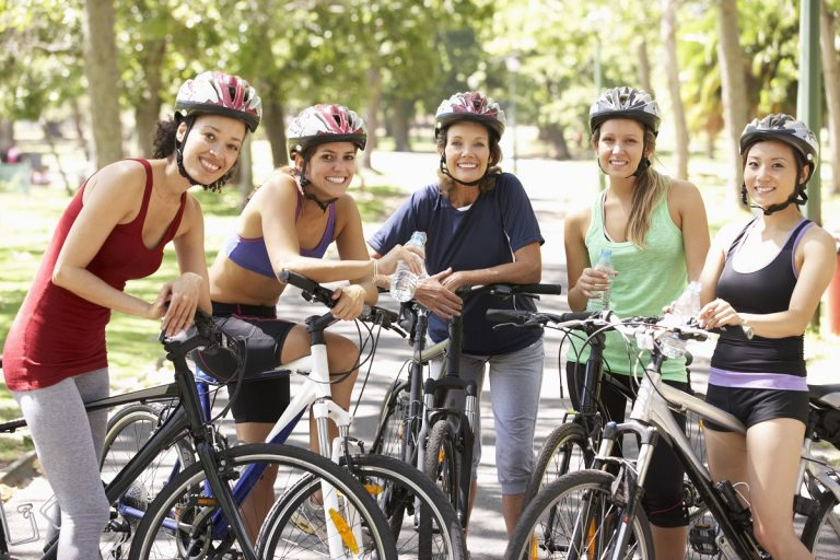 friends riding a bicycle