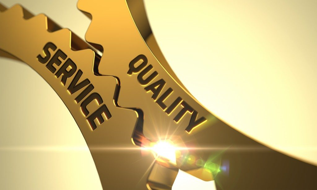 Service and quality concept