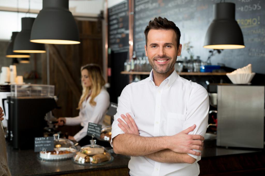 Cafe restaurant business owner