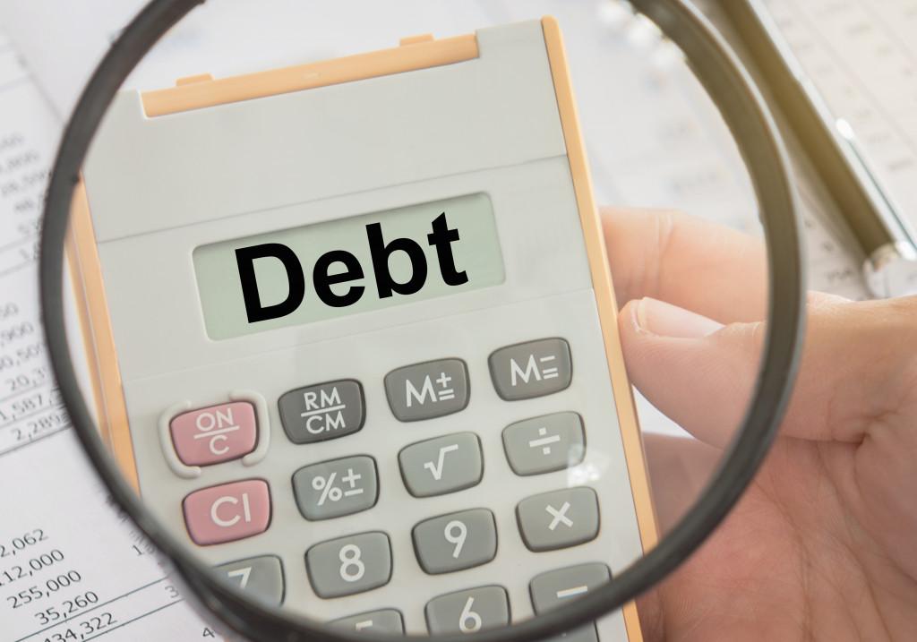 debt on calculator