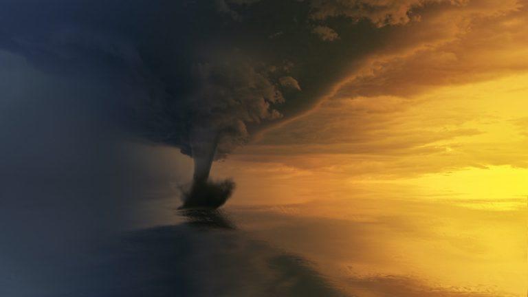 a tornado from a distance