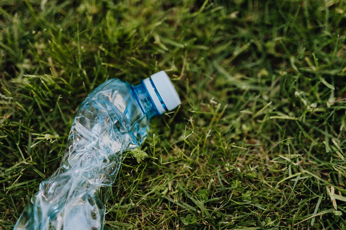used and crumpled plastic bottle
