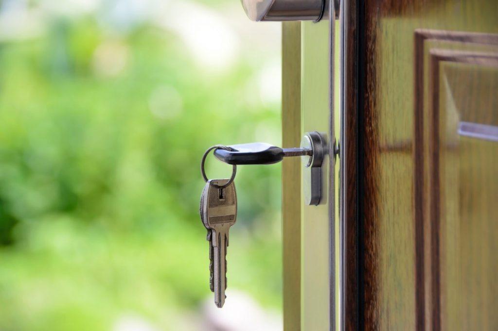 key on a door